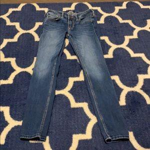 hollister skinny blue jeans